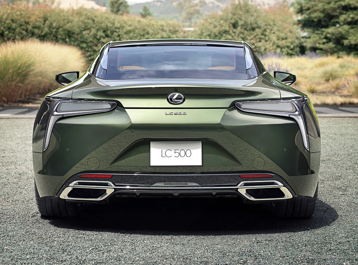 2020 Lexus LC 500 Inspiration Series in Nori Green rear view