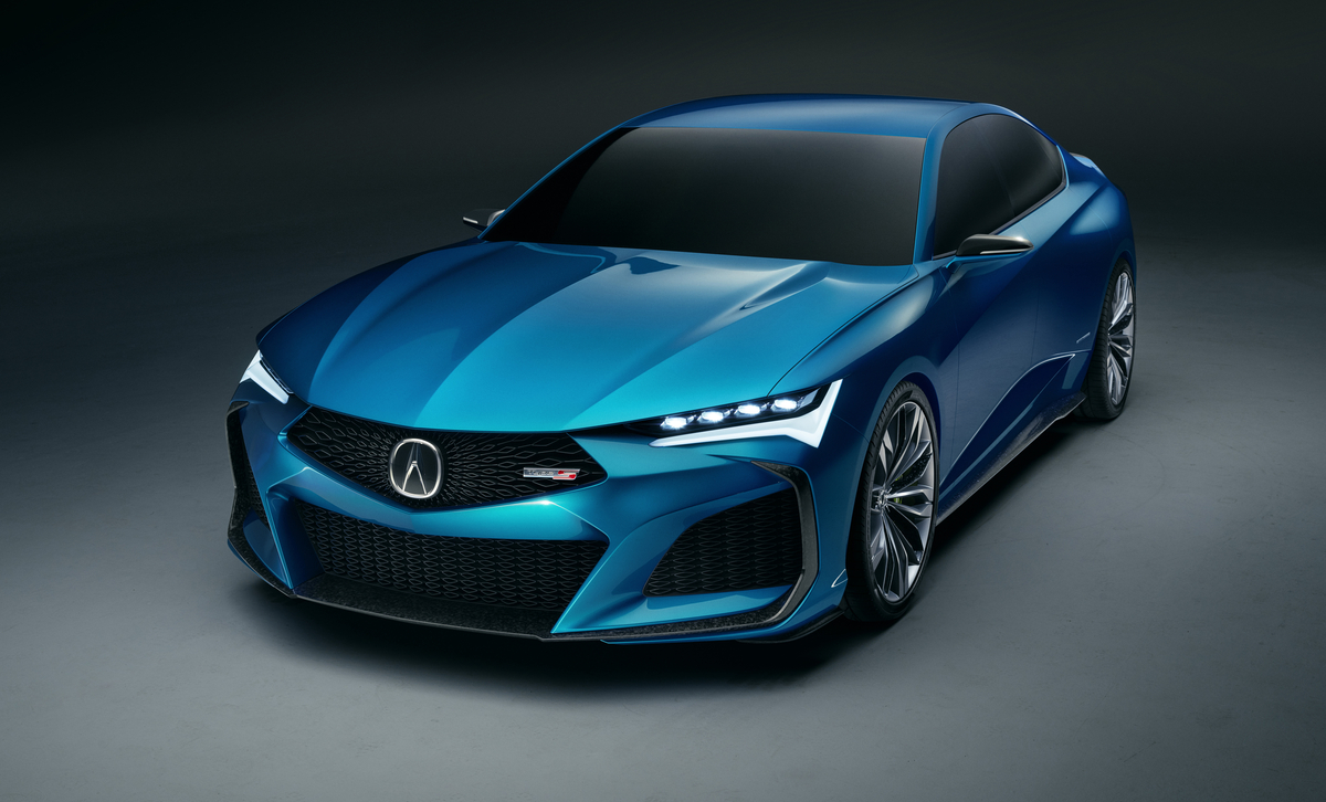 Acura Type S Concept blue front angle view