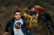 "Justice Smith and Kathryn Newton in ""Pokémon: Detective Pikachu"""