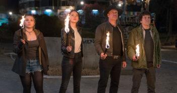 "Woody Harrelson, Emma Stone, Jesse Eisenberg and Abigail Breslin in ""Zombieland: Double Tap"""
