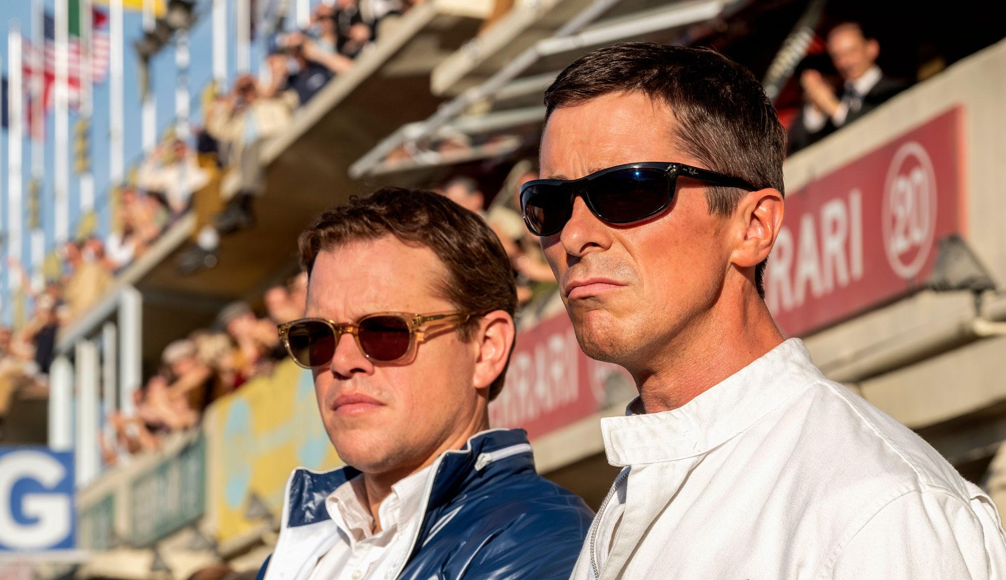 """Matt Damon and Christian Bale in """"Ford v Ferrari"""""""