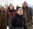 "Dwayne Johnson, Jack Black, Karen Gillan and Awkwafina in ""Jumanji: The Next Level"""