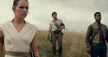 "Daisy Ridley, Oscar Isaac and John Boyega in ""Star Wars: The Rise of Skywalker"""