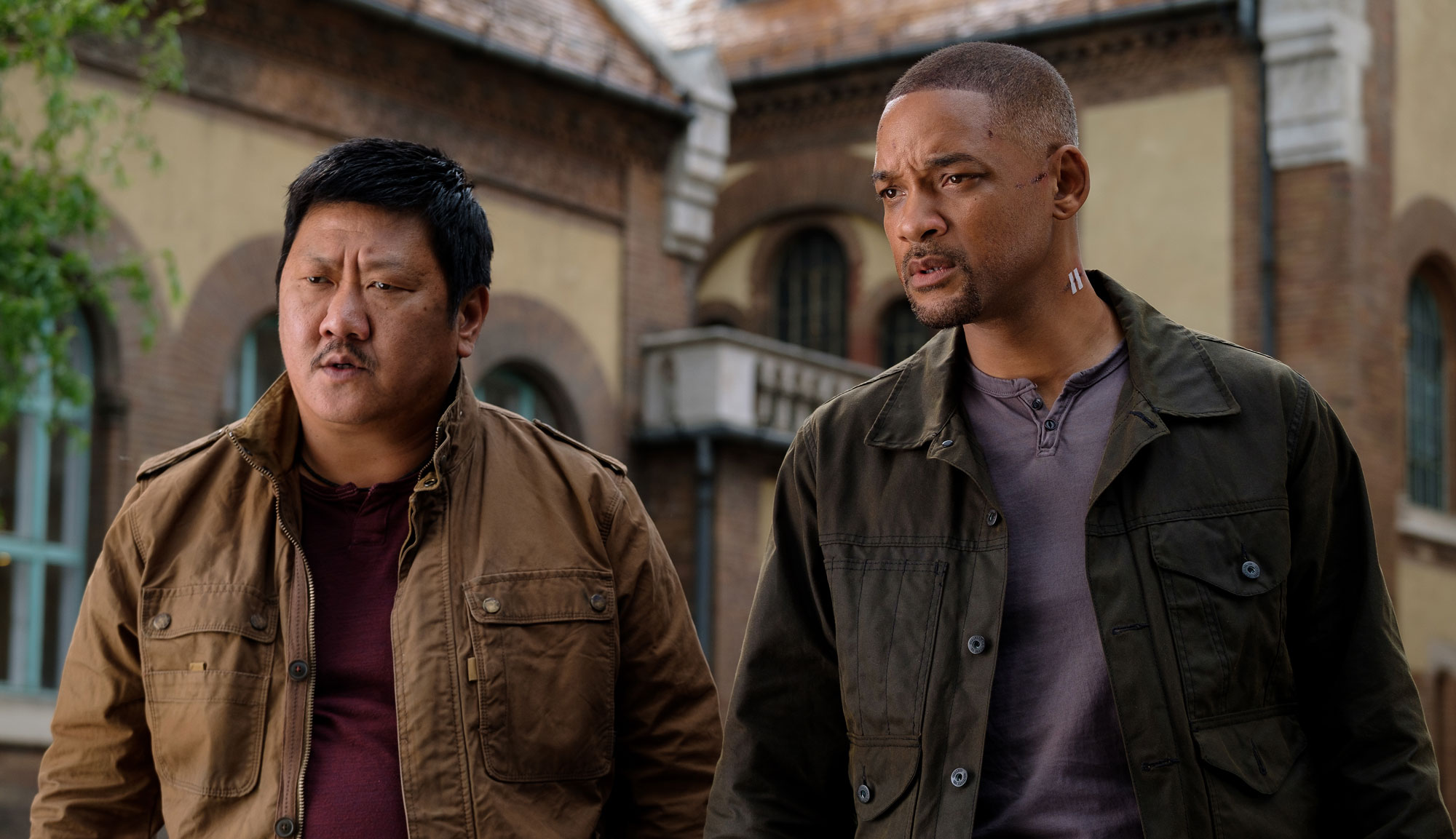 "Will Smith and Benedict Wong in ""Gemini Man"""