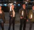 "Woody Harrelson, Jesse Eisenberg, Emma Stone and Abigail Breslin in ""Zombieland: Double Tap"""