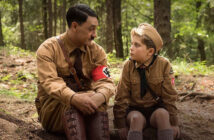 "Taika Waititi and Roman Griffin Davis in ""Jojo Rabbit"""