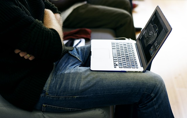 using laptop on your lap