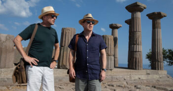 "Steve Coogan and Rob Brydon in ""The Trip to Greece"""