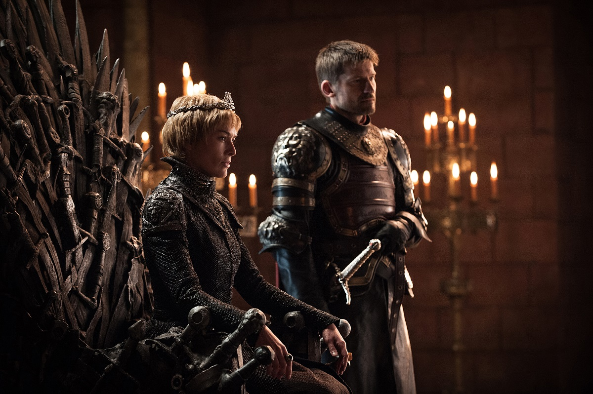 "Lena Headey and Nikolaj Coster Waldau in ""Game of Thrones"""