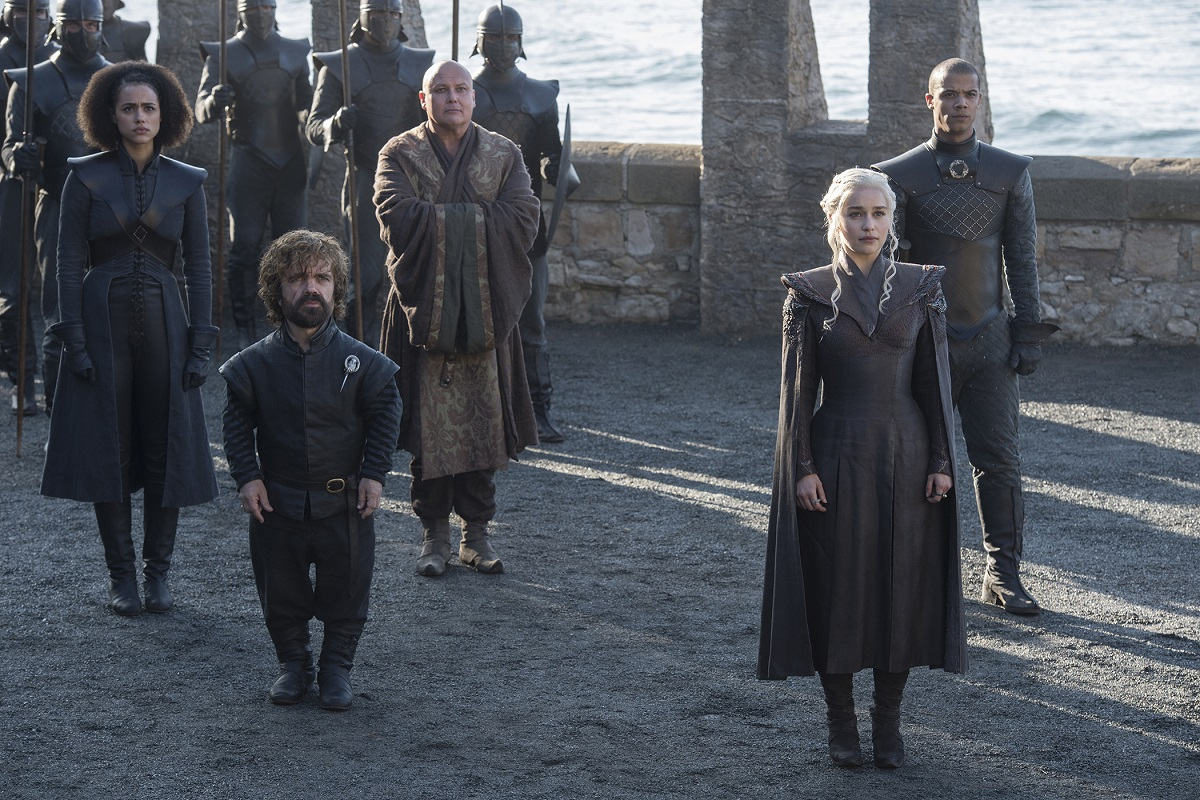 "Peter Dinklage and Emilia Clarke in ""Game of Thrones"""