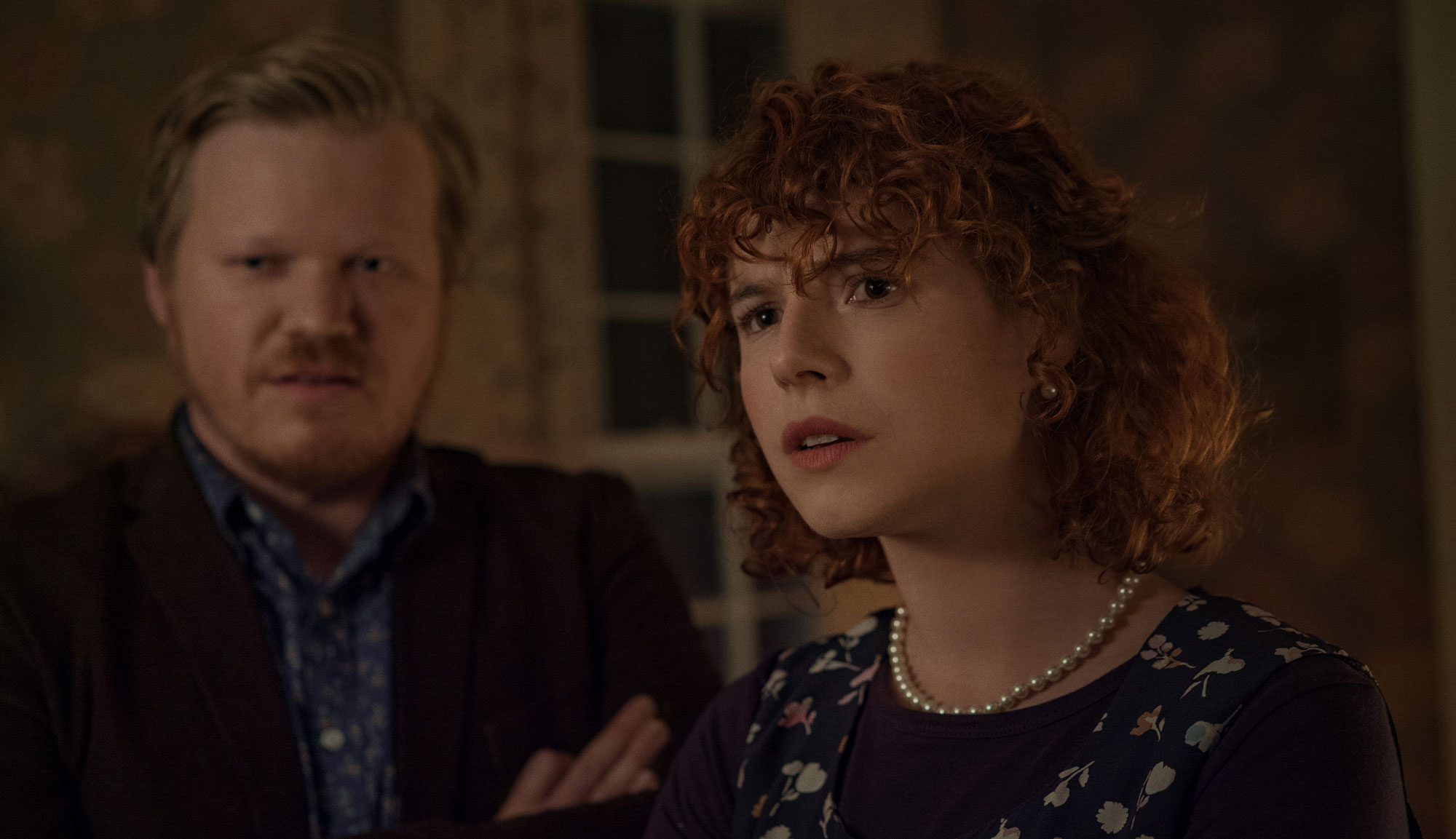 "Jesse Plemons and Jessie Buckley in ""I'm Thinking of Ending Things"""