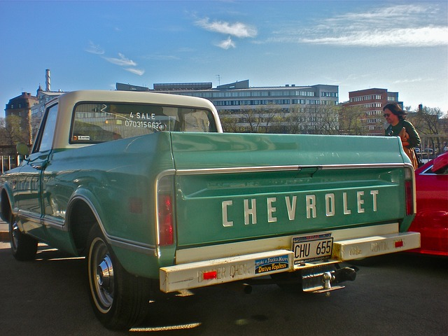 old Chevy pickup truck