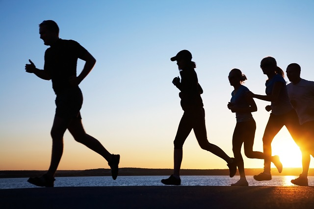 jogging and fitness training