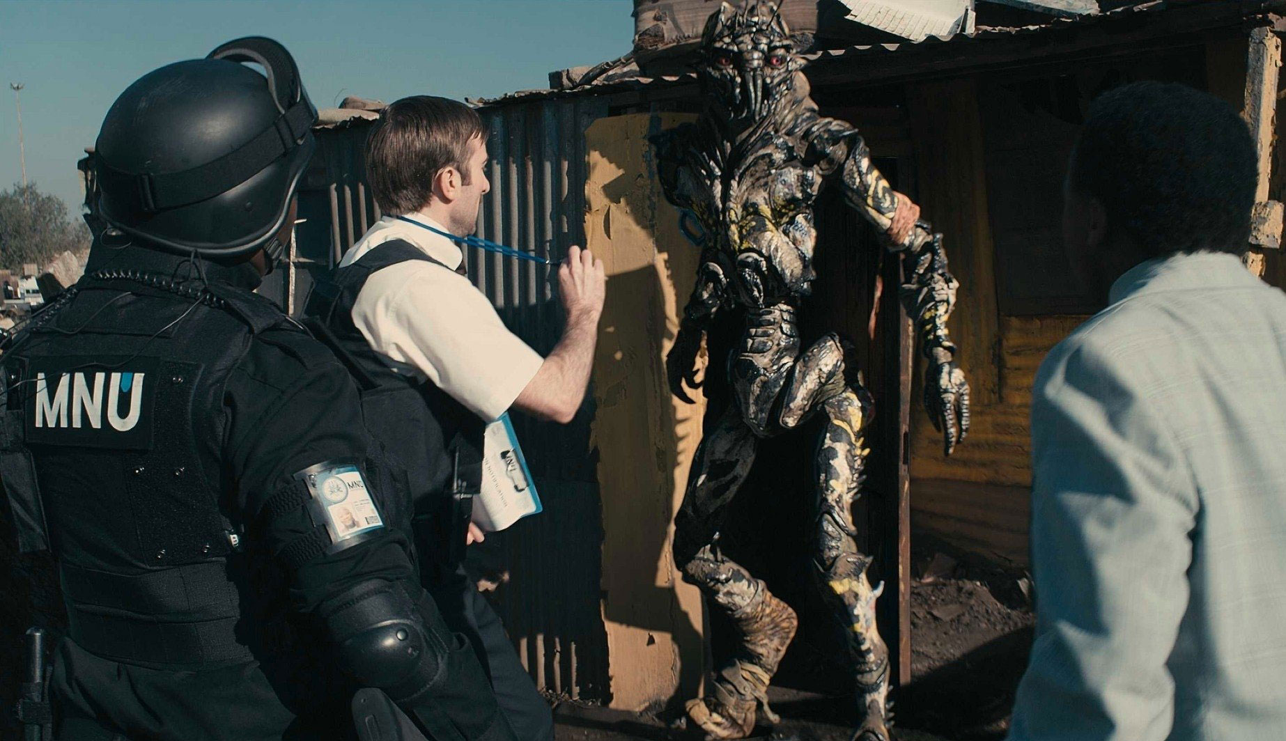 """Sharlto Copley in """"District 9"""""""
