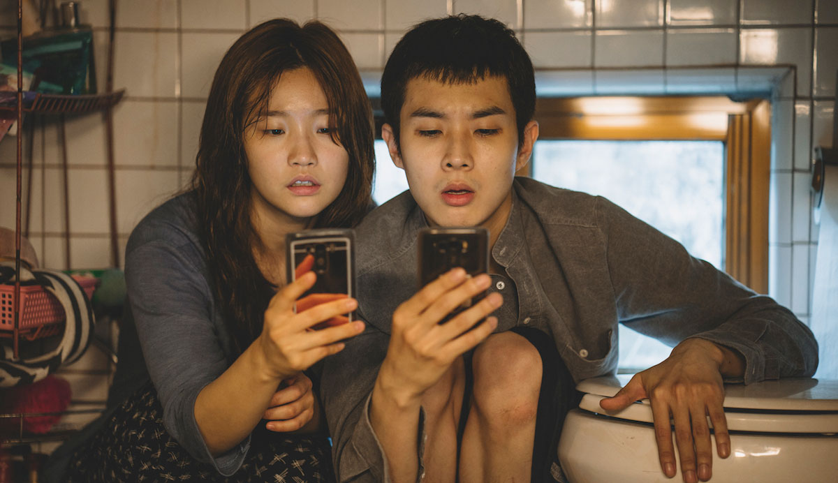 """Woo-sik Choi and So-dam Park in """"Parasite"""""""