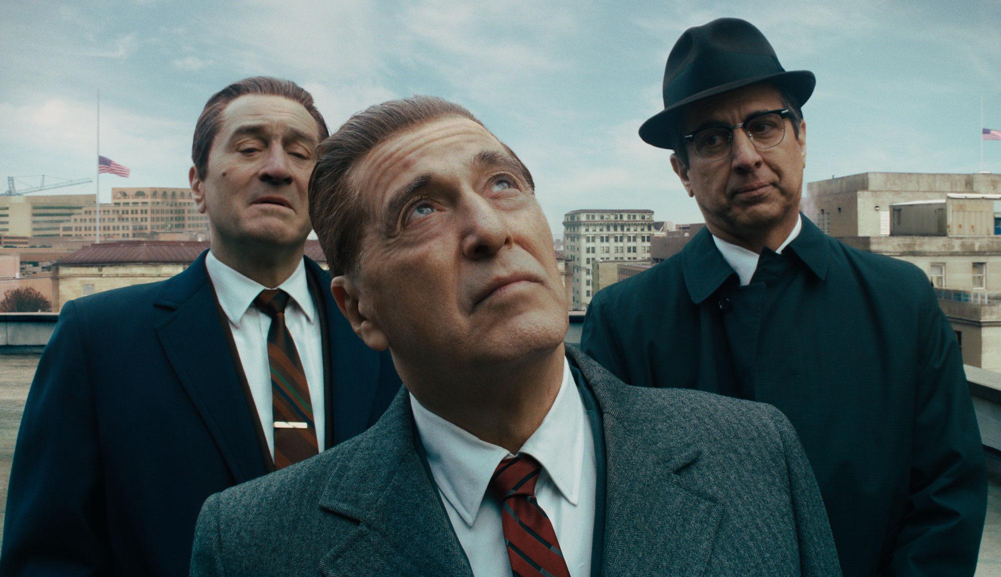 "Robert De Niro, Al Pacino and Ray Romano in ""The Irishman"""