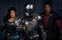 "Pedro Pascal, Gina Carano and Carl Weathers in ""The Mandalorian"""