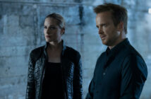 "Evan Rachel Wood and Aaron Paul in ""Westworld"""