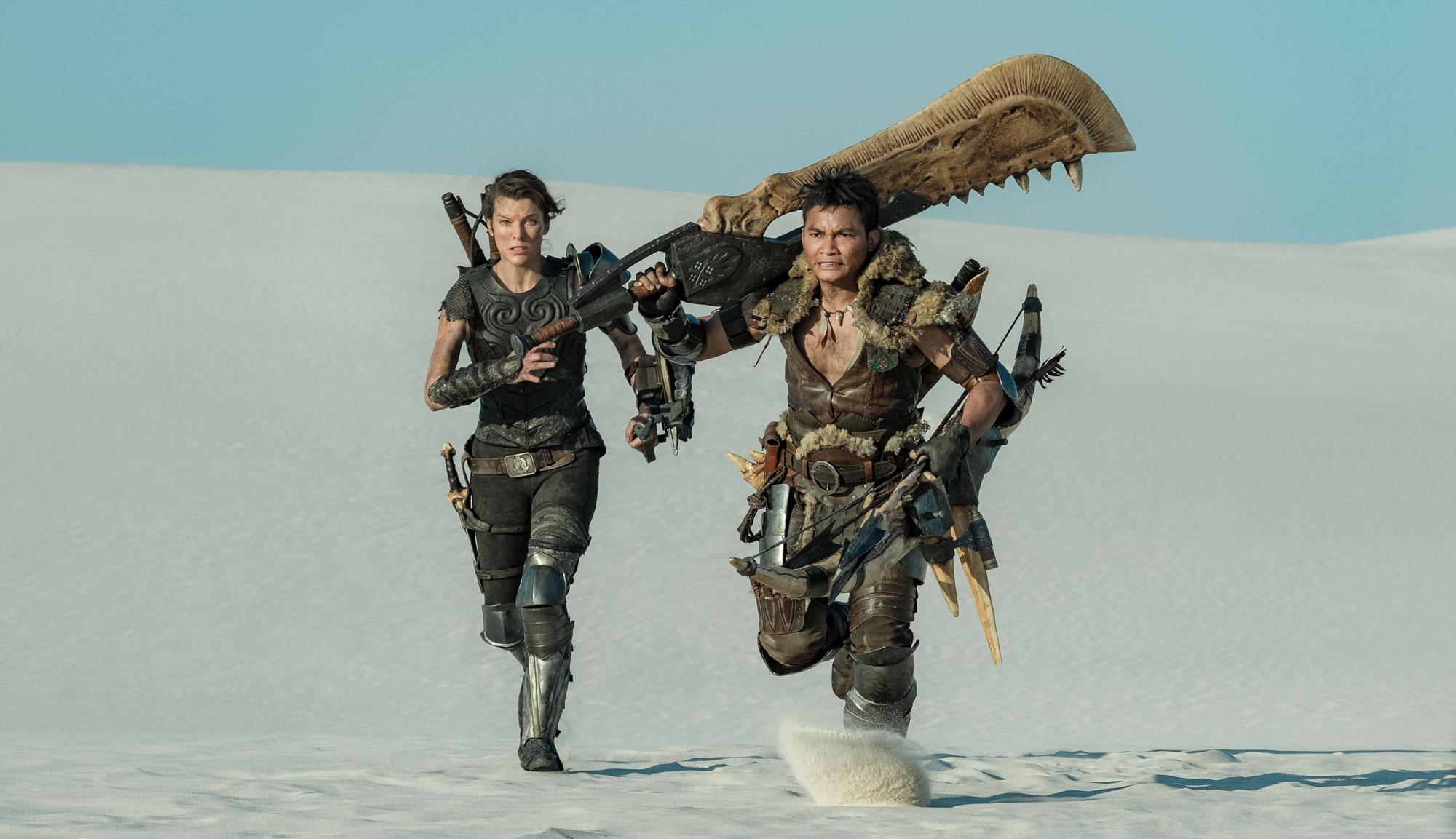 """Milla Jovovich and Tony Jaa in """"Monster Hunter"""""""