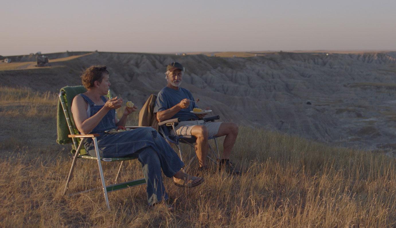 """Frances McDormand and David Strathairn in """"Nomadland"""""""