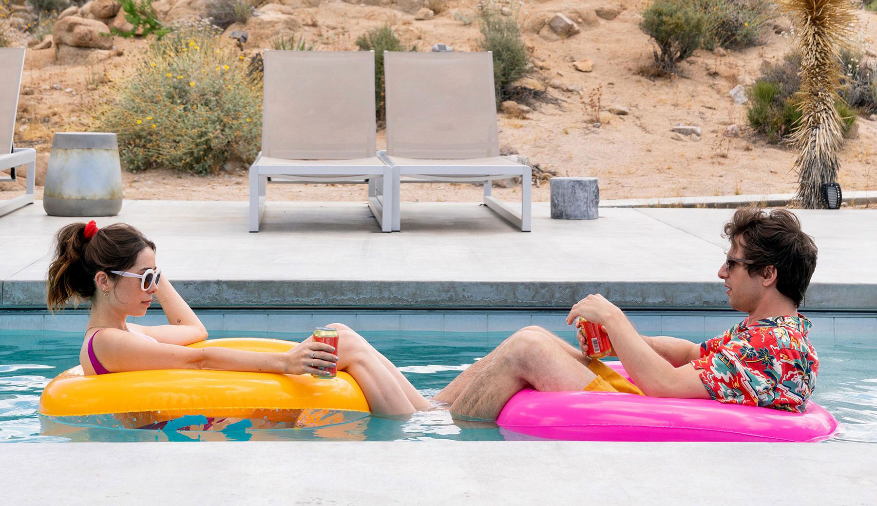 """Andy Samberg and Cristin Milioti in """"Palm Springs"""""""