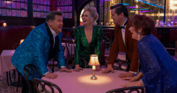 "James Corden, Nicole Kidman, Andrew Rannells and Meryl Streep in ""The Prom"""