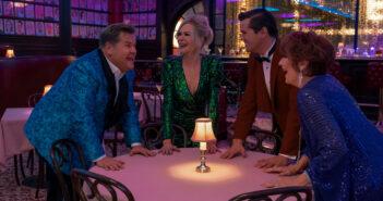 "James Corden, Nicole Kidman, Andrew Rannells and Meryl Streep in ""The Prom"""