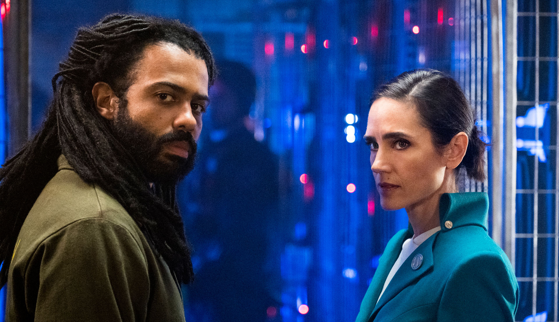 """Daveed Diggs and Jennifer Connelly in """"Snowpiercer"""""""