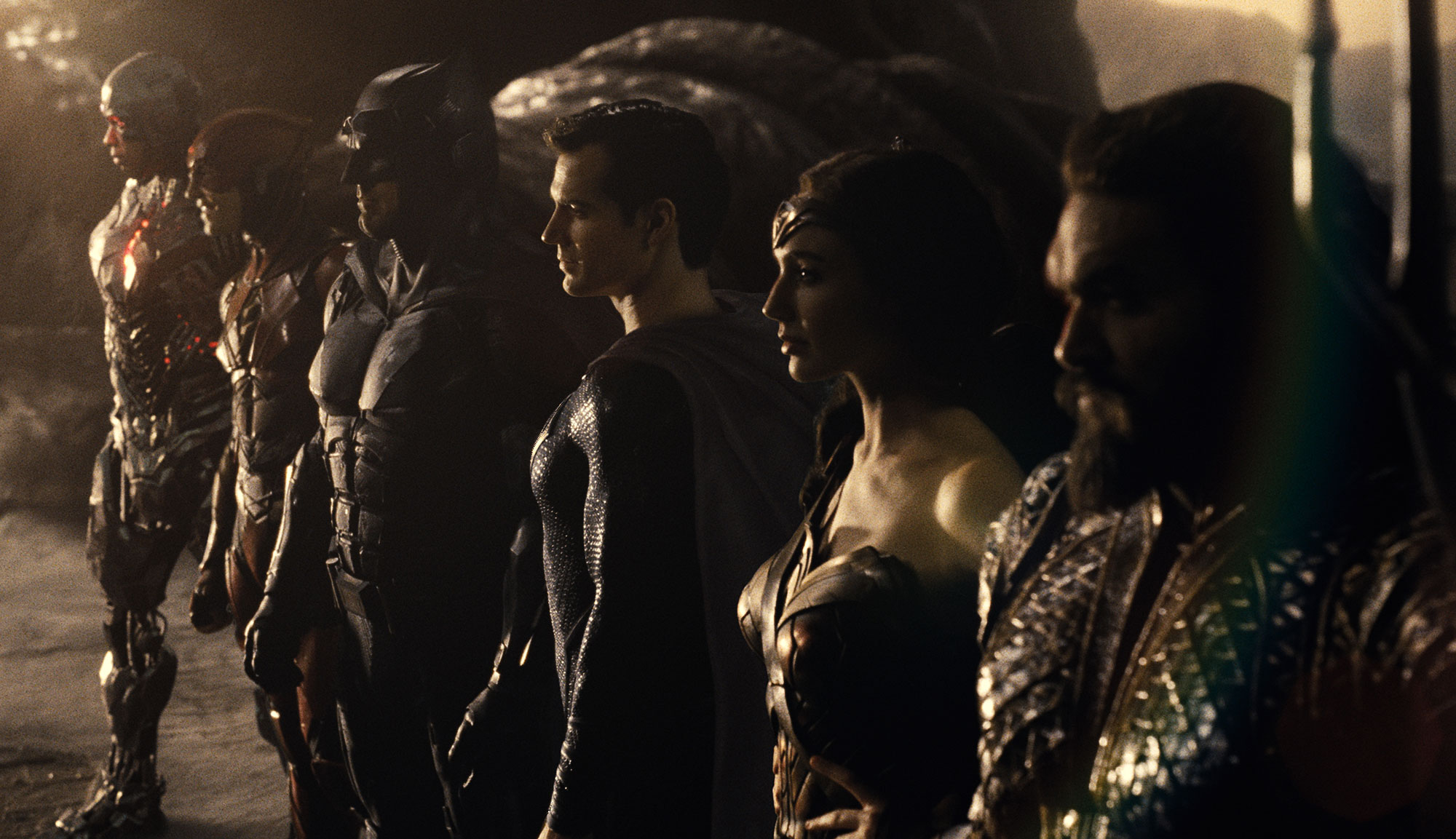 """Ben Affleck, Henry Cavill and Gal Gadot in """" Zack Snyder's Justice League"""""""