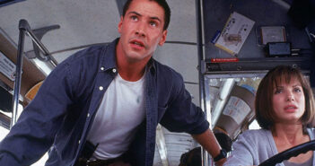 "Keanu Reeves and Sandra Bullock in ""Speed"""
