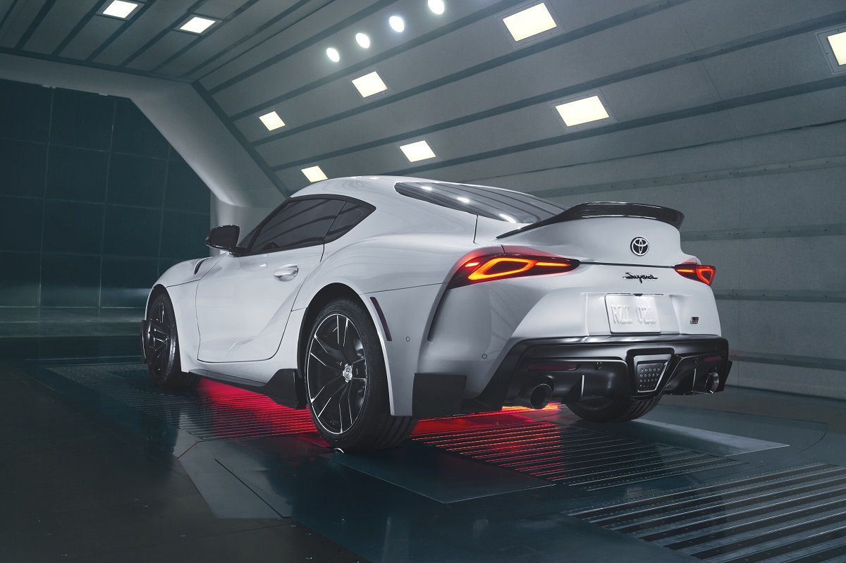 Toyota Special Edition GR Supra A91-CF back corner view