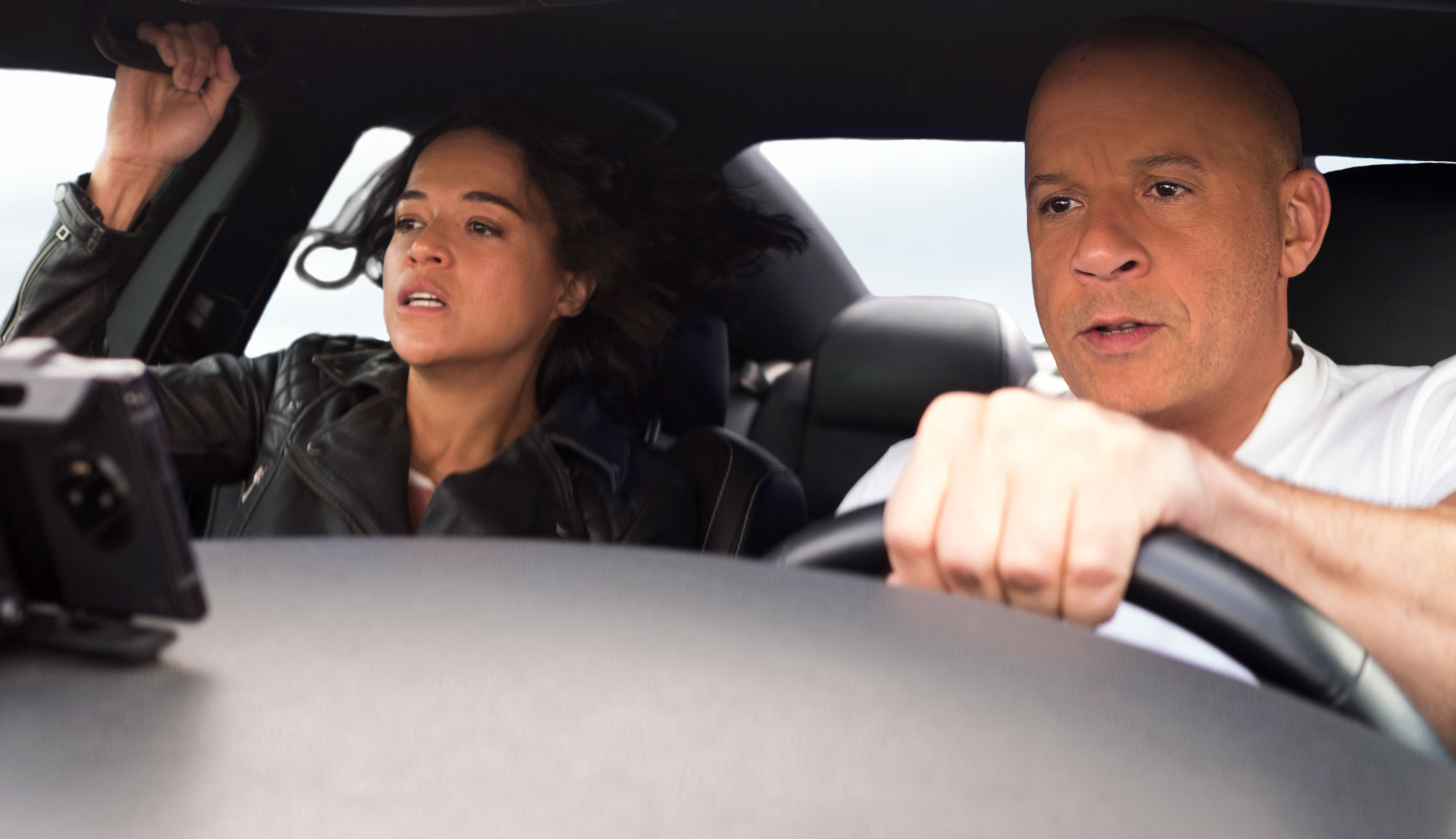"""Vin Diesel and MIchelle Rodriguez in """"F9"""""""