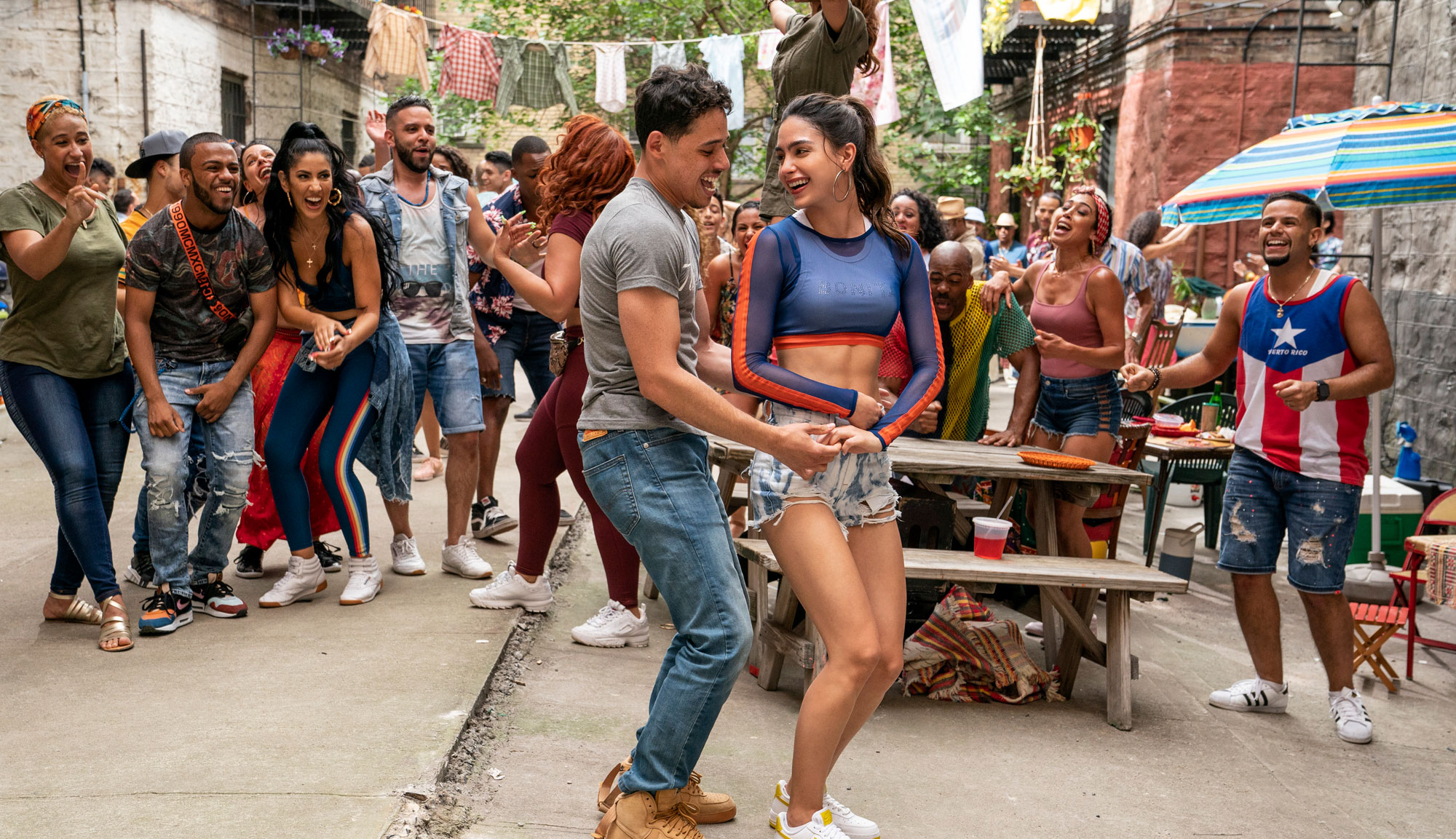 """Anthony Ramos and Melissa Barrera in """"In the Heights"""""""