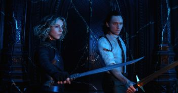 "Tom Hiddleston and Sophia Di Martino in ""Loki"""
