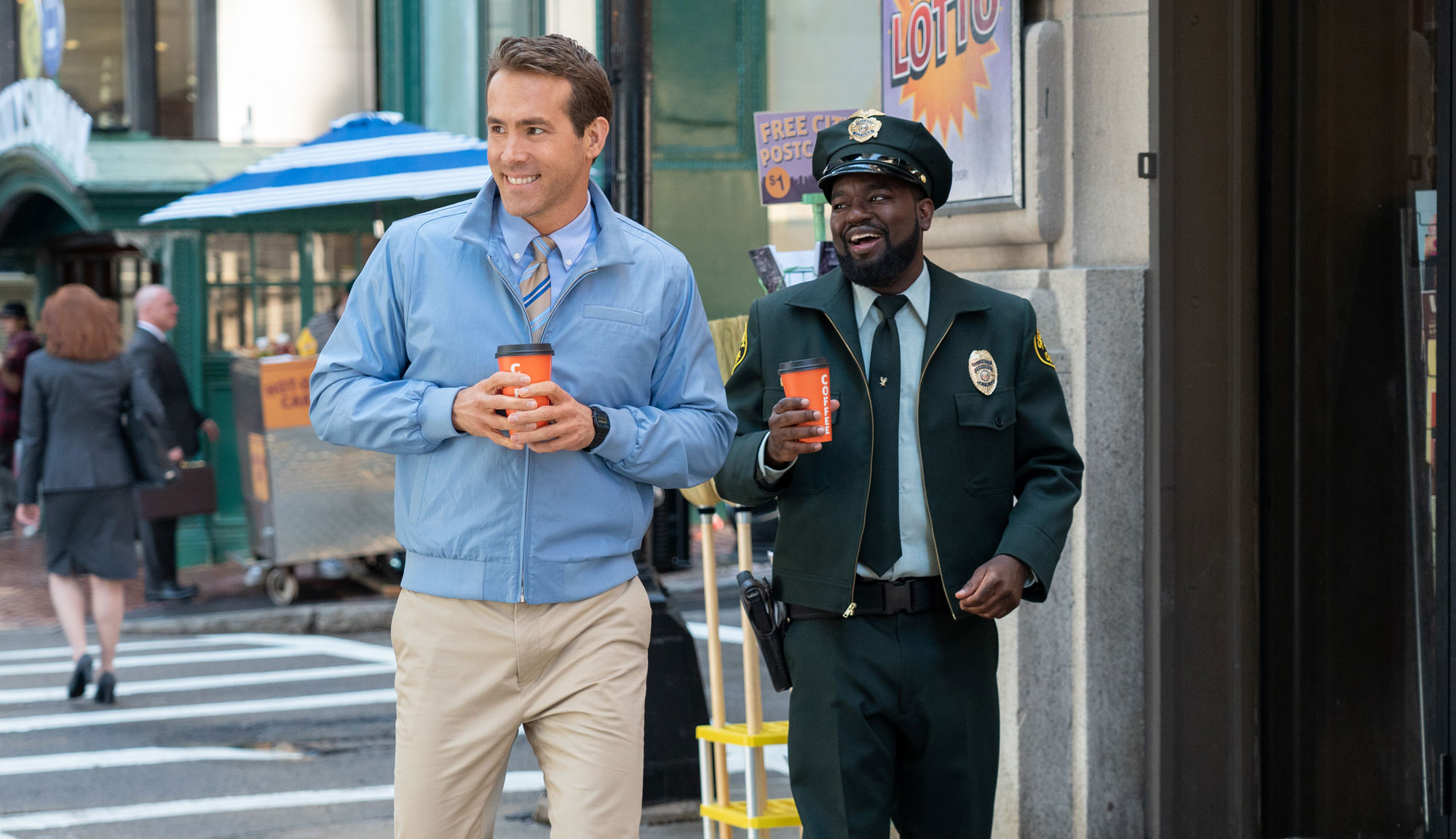 """Ryan Reynolds and Lil Rel Howery in """"Free Guy"""""""