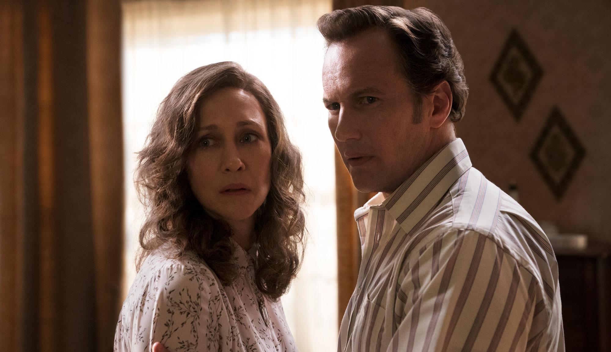 "Patrick Wilson and Vera Farmiga in ""The Conjuring 3"""