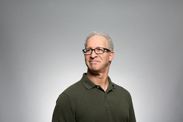middle aged man with grey hair