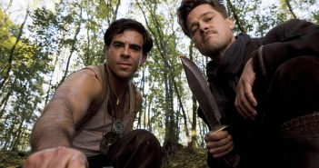 "Brad Pitt and Eli Roth in ""Inglourious Basterds"""