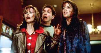 """Neve Campbell, Courtney Cox and Jamie Kennedy in """"Scream"""""""